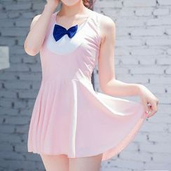 DJ Design - Bow Accent Swimdress