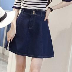 Naito - Denim A-Line Skirt