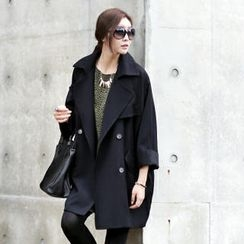 Jcstyle - Loose-Fit Trench Coat with Sash