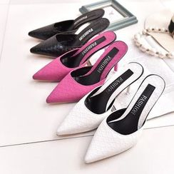 Simply Walk - High Heel Pointy Mules