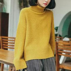 monroll - 纯色樽领毛衣