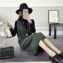 efolin - Knit Pinafore Dress