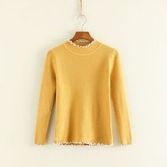 Mushi - Ruffle Knit Sweater