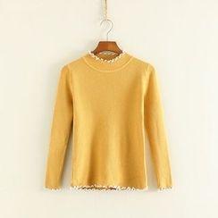 三木社 - 荷葉邊針織毛衣