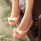 Smoothie - Bow-Accent Contrast-Trim Flats