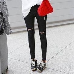 PEPER - Distressed Skinny Pants