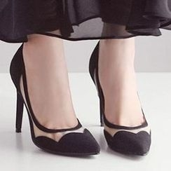 Mancienne - Sheer-Panel Pumps