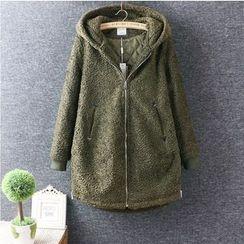Nycto - Hooded Fleece Long Coat