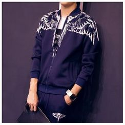 Danjieshi - Set: Wing Zip Jacket + Sweatpants