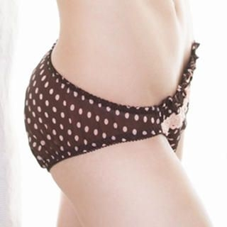La Miu - Lace-Trim Dotted Panties