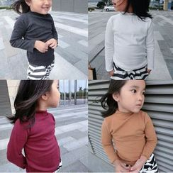Happy Lala - Kids Long-Sleeve Mock-Neck Top