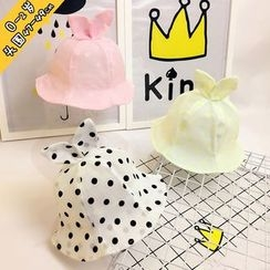 MOM Kiss - Baby Bow Accent Bucket Hat