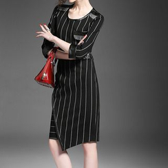 Alaroo - 3/4-Sleeve Striped Dress