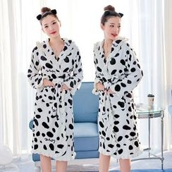 Dreamland - Family Matching Dotted Fleece Night Robe