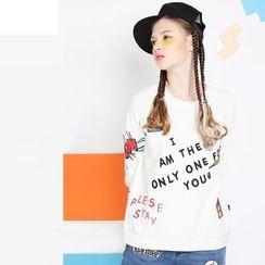 MUKOKO - Embroidered Long-Sleeve T-Shirt