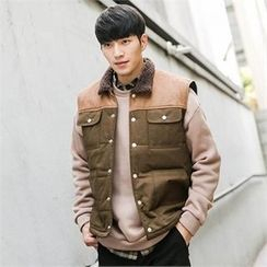 STYLEMAN - Color-Block Padded Vest