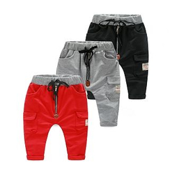 WellKids - Kids Drawstring Pocket-Accent Pants