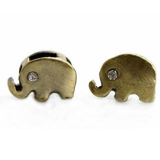 MURATI - Rhinestone Elephant Studs