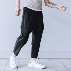 YIDESIMPLE - Slim-Fit 9/L Harem Pants