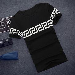 ZIXXIONA - Patterned Short-Sleeve T-Shirt