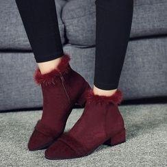 Yoflap - Block Heel Platform Short Boots