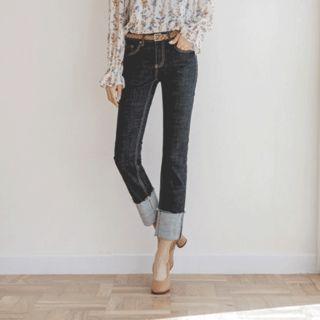 JUSTONE - Cuff-Hem Straight-Cut Jeans