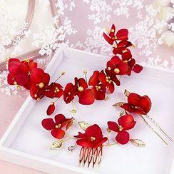 constello - Set: Floral Hair Clip + Hair Band + Hair Pin