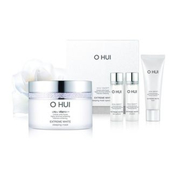 O HUI - Extreme White Sleeping Mask Set: Sleeping Mask 100ml + Skin Softener 20ml + Emulsion 20ml + Cleansing Foam 40ml
