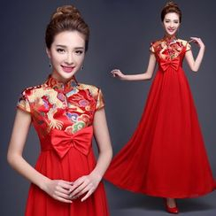 Tinkabel - Maternity Embroidered Wedding Cheongsam