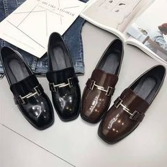 Anran - Low Block Heel Loafers
