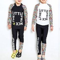 DJ Design - Kids Set: Lettering Rashguard + Swim Pants