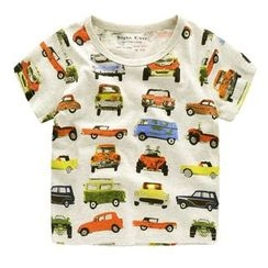 lalalove - Kids Car Print Short-Sleeve T-Shirt