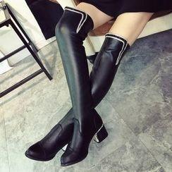 Sunsteps - Block Heel Over The Knee Boots