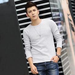 Denimic - Plain Long-Sleeve T-Shirt