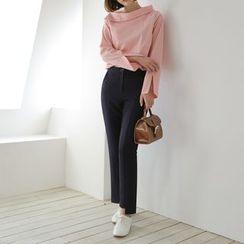 WITH IPUN - Flat-Front Dress Pants
