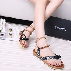 Sunsteps - Lace Up Flat Sandals