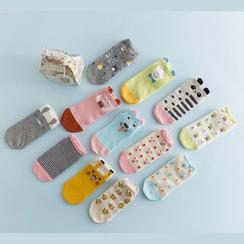 LA SHOP - 印花袜子
