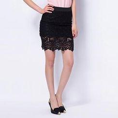 O.SA - Lace Pencil Skirt