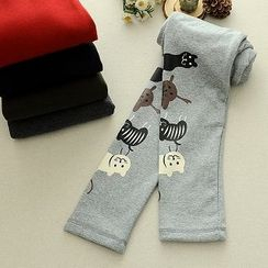 Storyland - Cat Print Fleece-Lined Leggings
