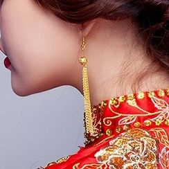 Suaylla - Tasseled Bridal Earrings
