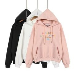 Momewear - Long-Sleeve Hooded Embroidered Top
