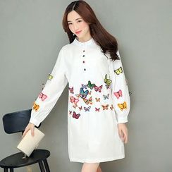 Rosehedge - Butterfly Embroidered Shirtdress