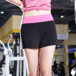 Tamtam Beach - Contrast-Trim Sport Shorts