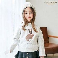 LILIPURRI - Kids Rabbit Print Pullover