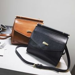 Nautilus Bags - Faux Leather Flap Crossbody Bag