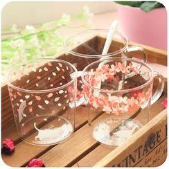 Momoi - Cherry Blossom Print Glass Mug