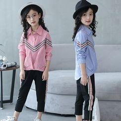 PAM - Kids Long-Sleeve Striped Blouse