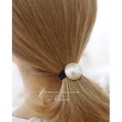 Miss21 Korea - Faux-Pearl Elastic Hair Tie