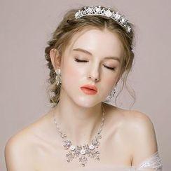 Miss Diva - 新娘花朵頭飾三件套裝