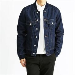 THE COVER - Seam-Trim Multi-Pocket Denim Jacket